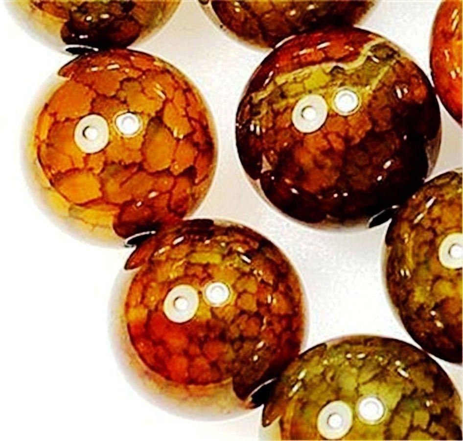 """8 mm naturel Black Dragon Veins Agate Gemstone Loose Beads 15/"""""""