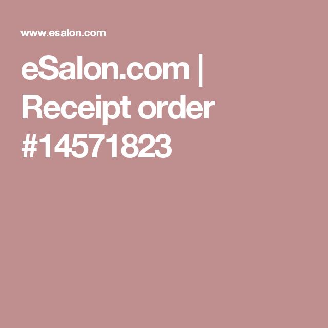 eSalon.com | Receipt order #14571823
