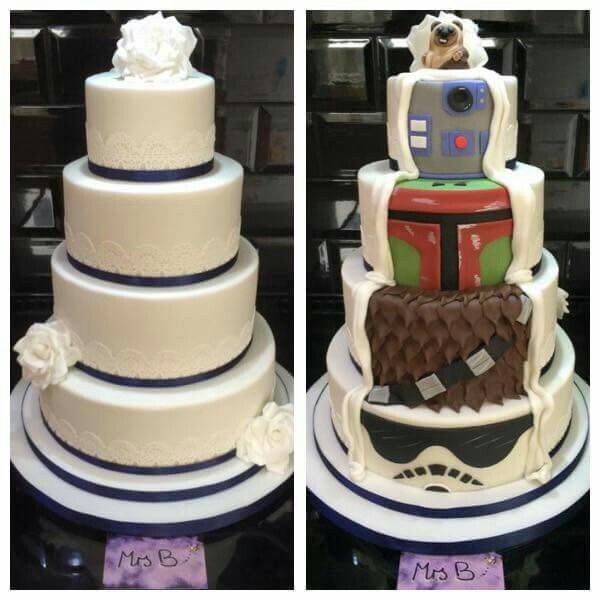Star Wars Wedding Cake, Star Wars
