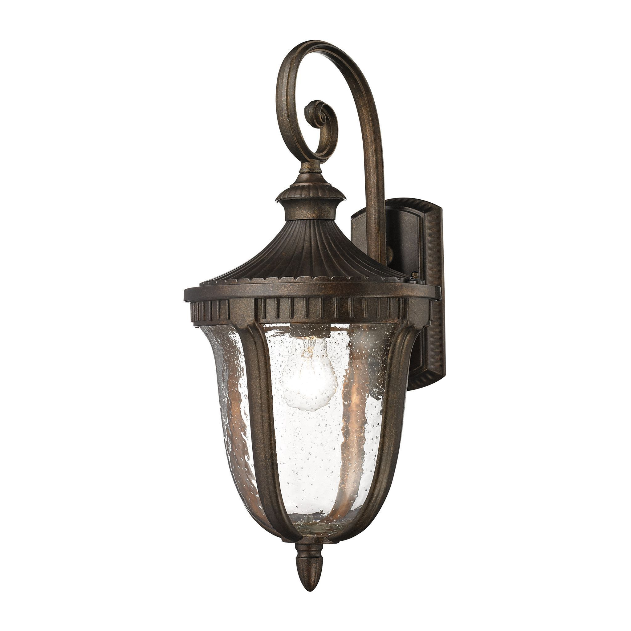 Elk Lighting 27001 1 Worthington Outdoor Wall Light Outdoor Sconces Outdoor Lighting Outdoor Light Fixtures
