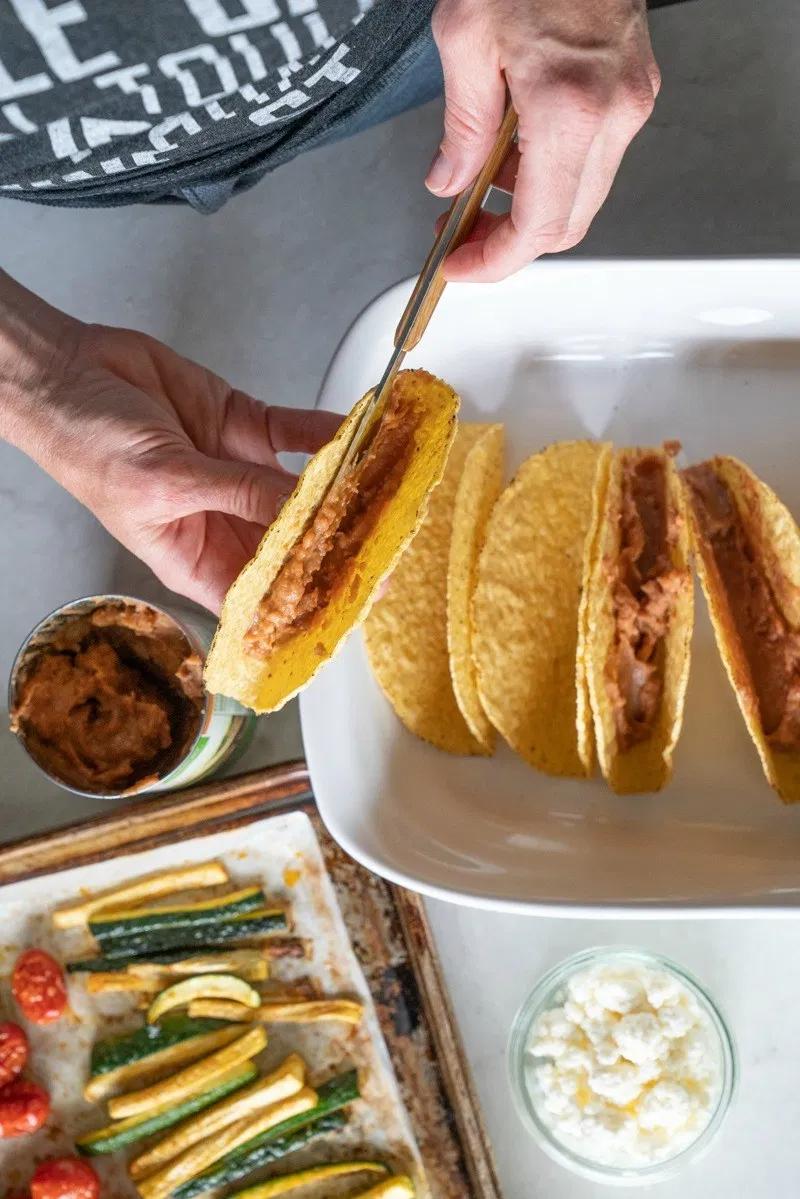 Crispy Veggie Tacos (Oven or Traeger)