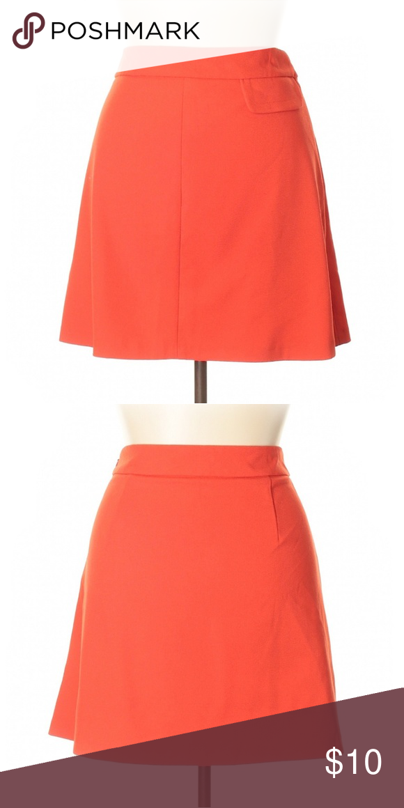 7b9e70198a3b Asos Skirt Red Orange, A-line, knee length. Gently used with minor signs of  wear. Minor snag. Size 14 but fits like a 12. ASOS Skirts A-Line or Full