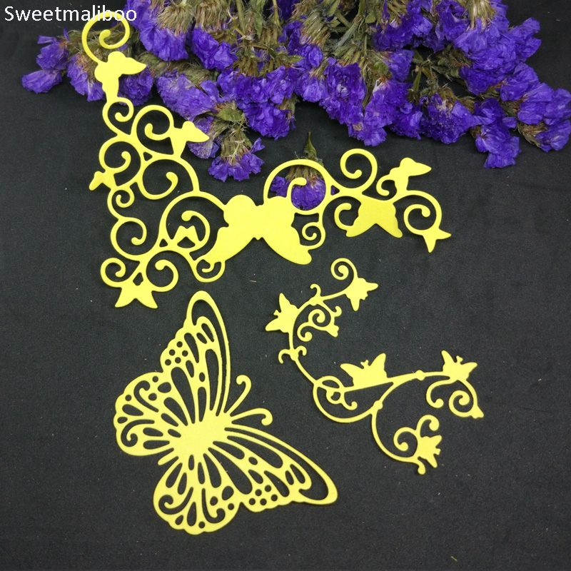 Decor Plants Butterfly Frame Metal Cutting Dies Embossing Scrapbooking DIY Album
