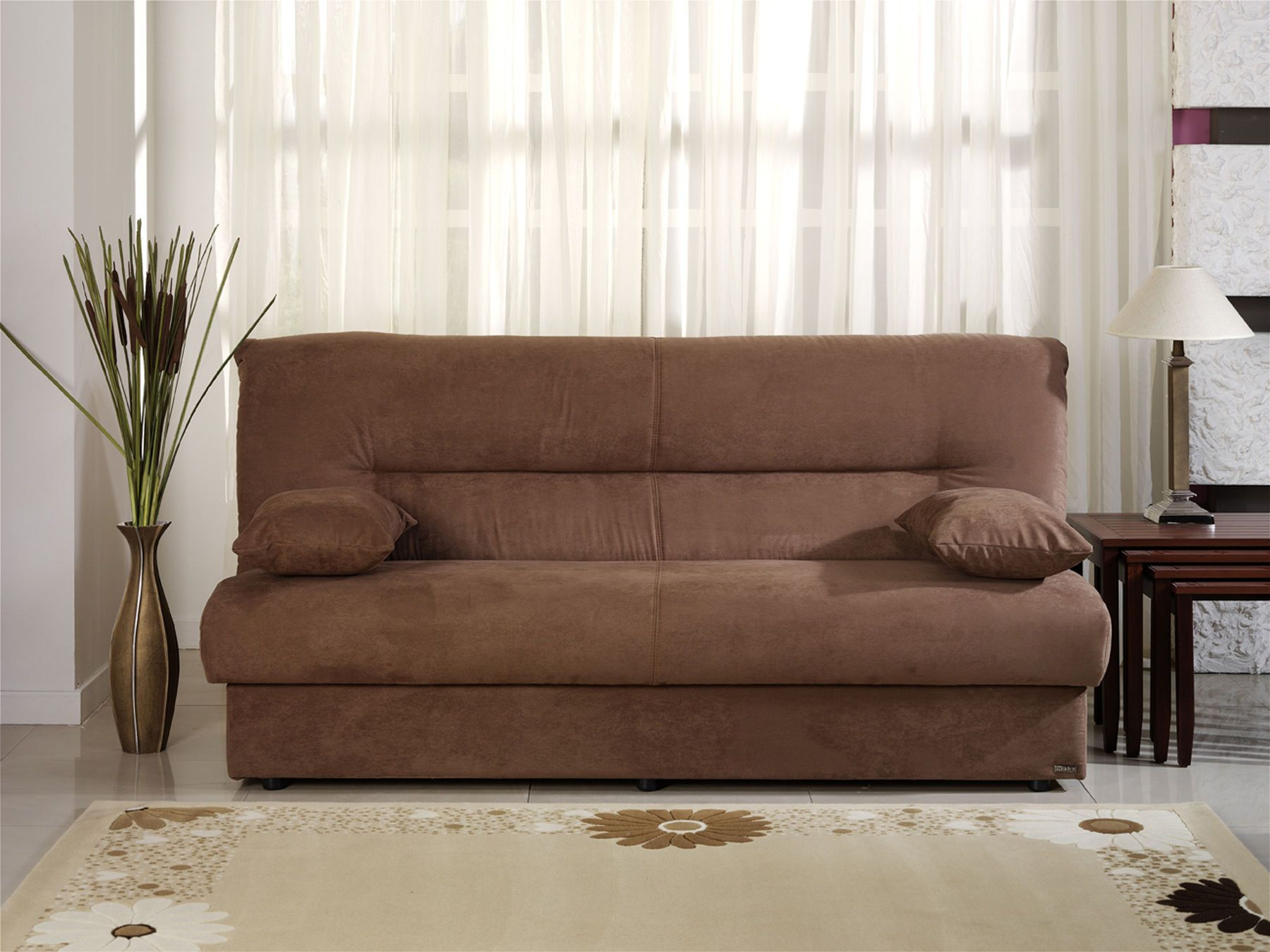 - Regata Truffle Sofa Bed In 2020 Brown Fabric Sofa, Sofa Bed With