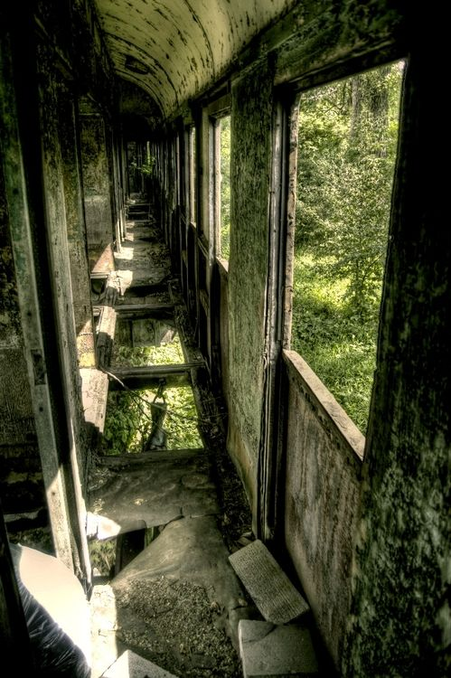 Abandoned Trains by ~Beezqp>> hauntingly beautiful tumblr page of abandoned and decaying sites