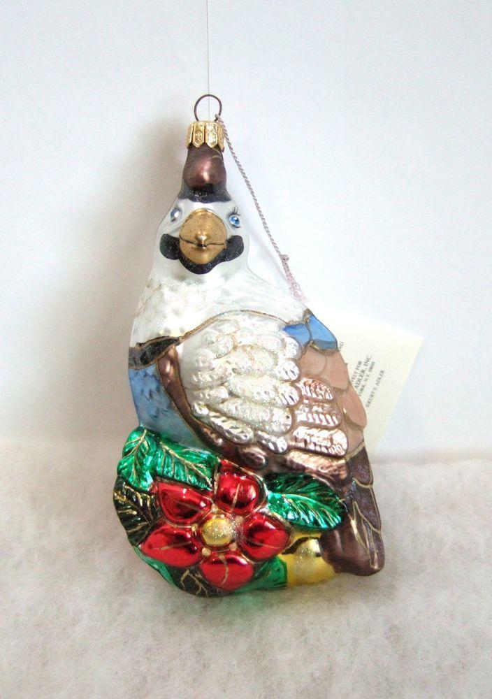 Kurt Adler Polonaise Christmas Ornament Partridge Komozja NIB (P4 ...