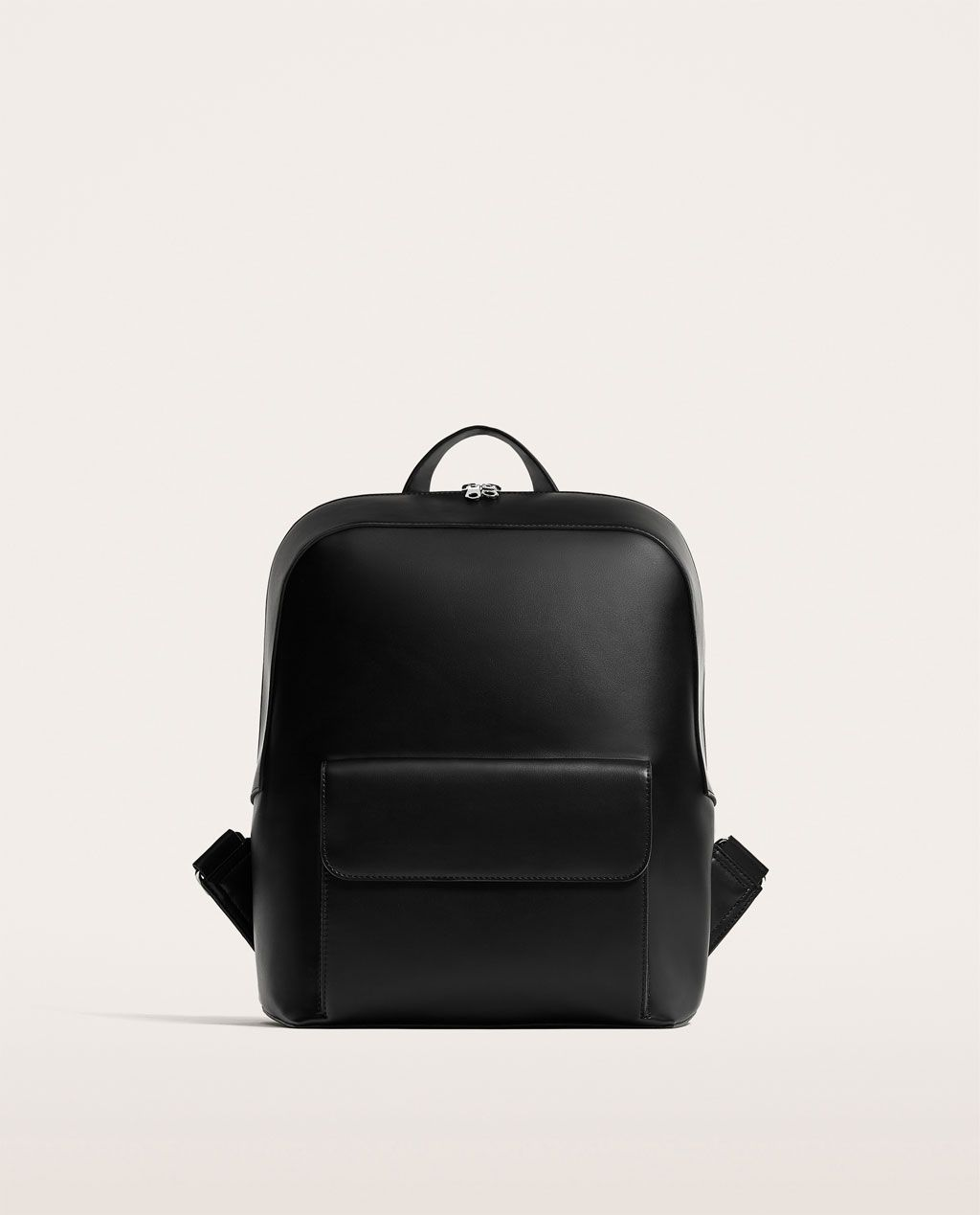 e8e886b330c91 Image 1 of BLACK BACKPACK WITH FLAP AND SLOGAN from Zara | Çanta ...
