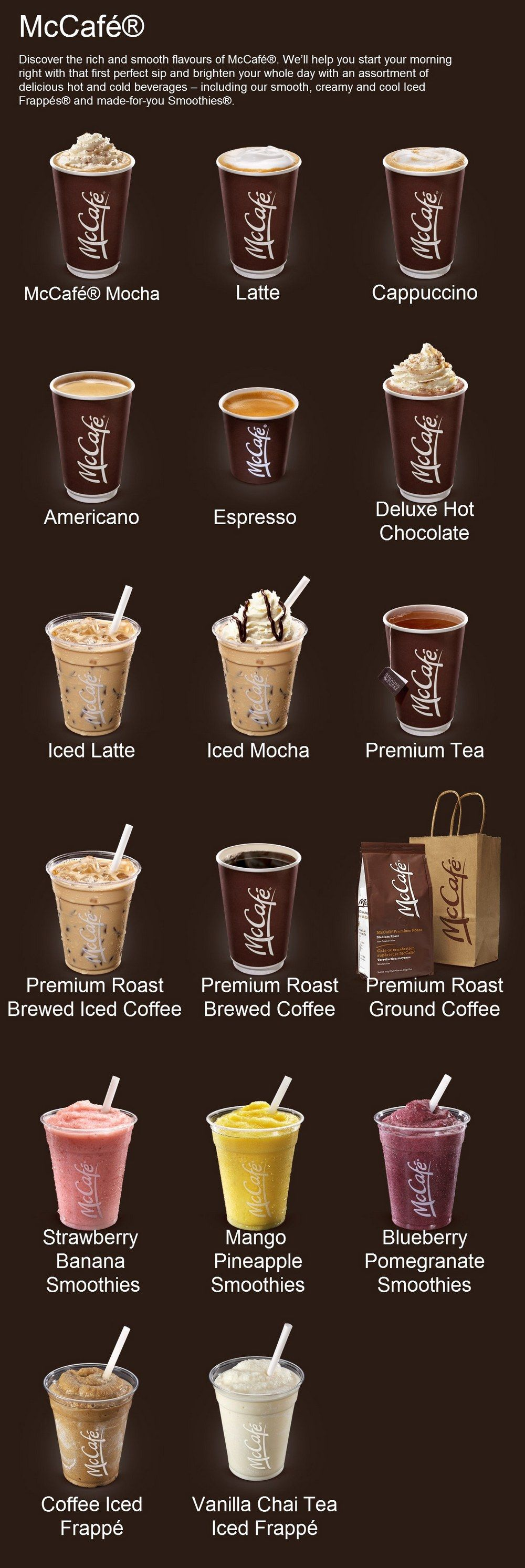 7 the menu at mccafe is simple and clear which made the