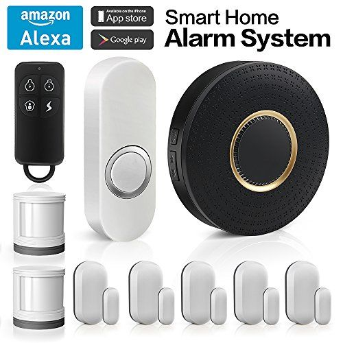 Forrinx Wireless Smart Home Security Alarm System With 1 Smart Wifi Hub 5 Contact Sensors 2 M Home Security Alarm System Wireless Home Security Home Security