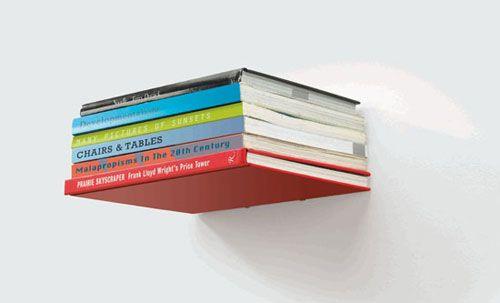 Wandregal bücher unsichtbar  unsichtbar, bücherregal, miron lior, umbra, conceal shelf | Office ...