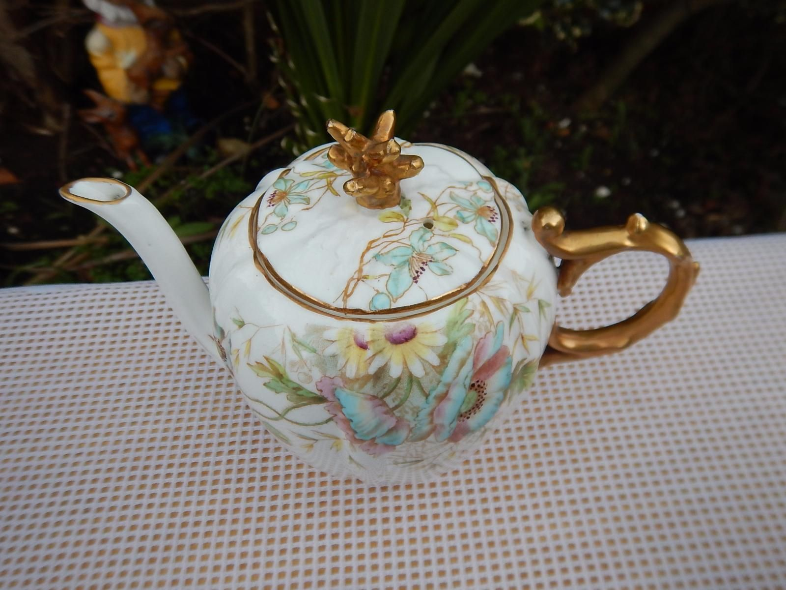 Antique Small teapot Aynsley ,Blue Poppy RD169873 | JPEGbay.com