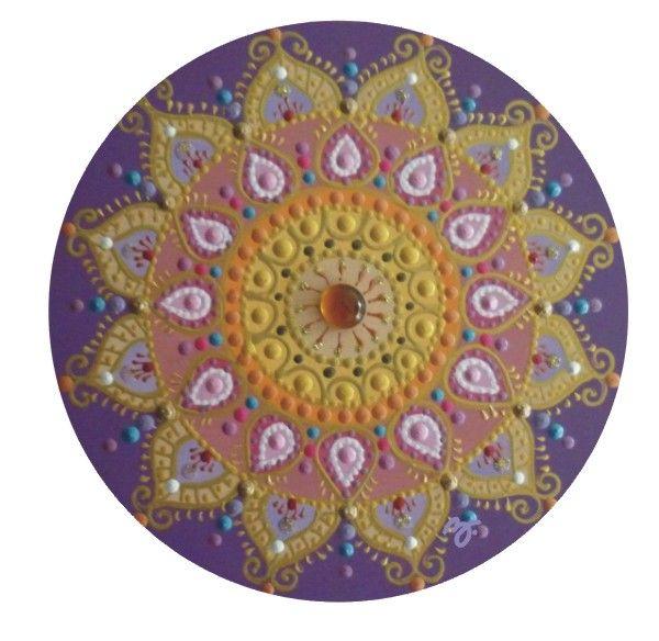 lila virágmandala / purple flowermandala