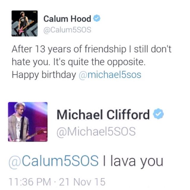 Calum Birthday Tweet To Mikey With A Reply