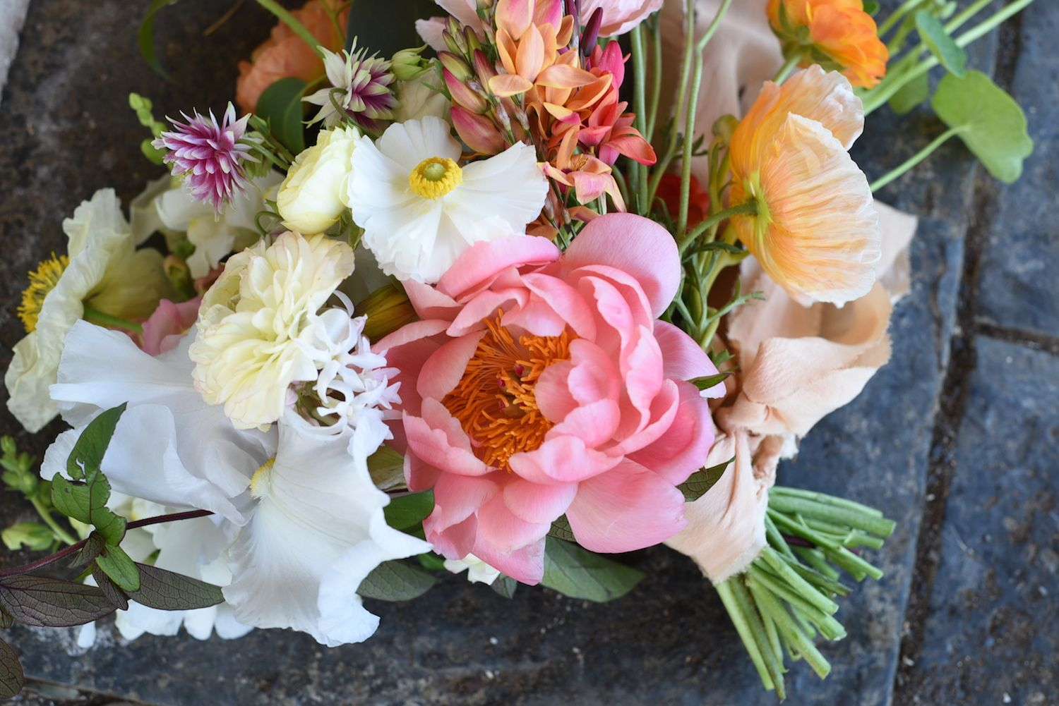 october flowers bridal bouquet spring flowers coral peony rh pinterest com