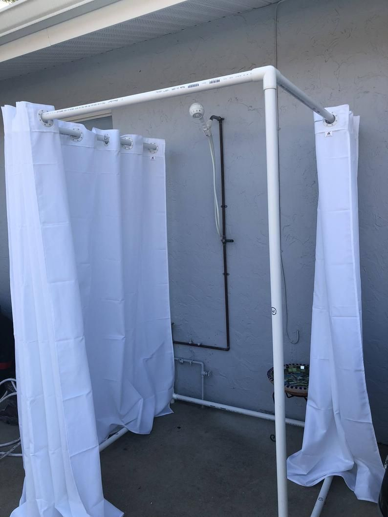 Outdoor Shower Frame Pvc Outdoor Shower Portable Shower Etsy In