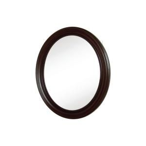Pegasus 20 In Recessed Or Surface Mount Mirrored Medicine Cabinet With Oval Deco Framed Door In Oil R Medicine Cabinet Mirror Mirror Mounted Oil Rubbed Bronze