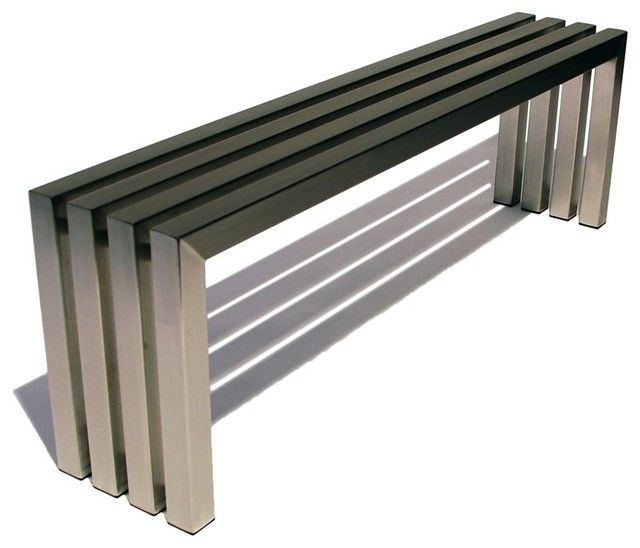 Stainless Steel Bench For Outside Sitting Stainless Steel Bench Modern Outdoor Furniture Outdoor Furniture Design