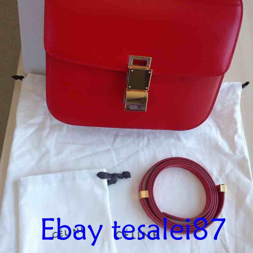 bafeddbb00 Celine  Never  Used  Box  Medium  Red  Ivory  Calfskin  Shoulder  Bag   fashion  clothing  shoes  accessories  womensbagshandbags (ebay link)