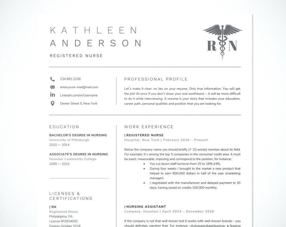 Inspiring Free Rn Resume Template Picture 042 nursing