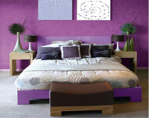 Associer la couleur violet dans la chambre, le salon, la cuisine - Peindre Table De Chevet