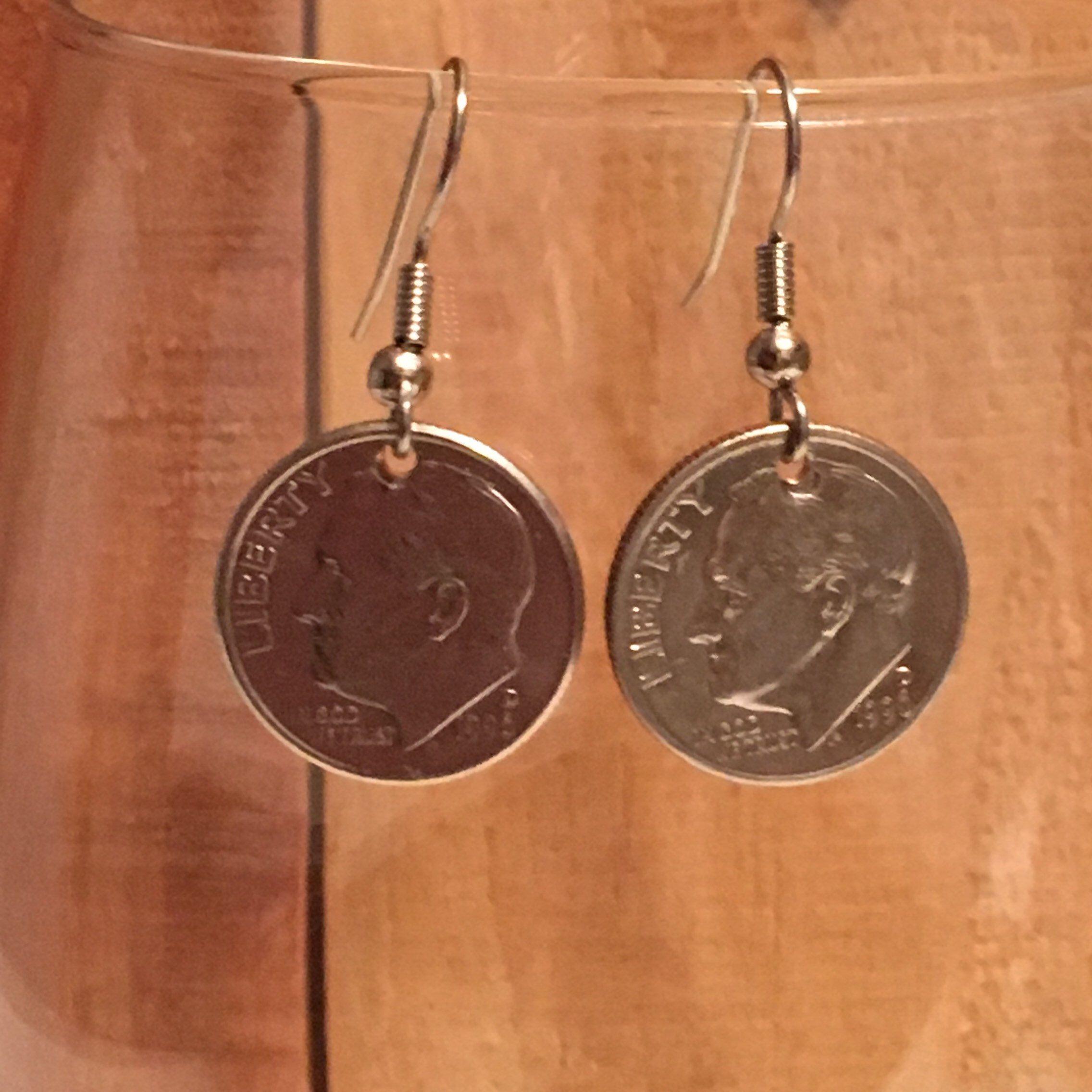 1996 dime earrings free gift bag 23 year anniversary 23rd