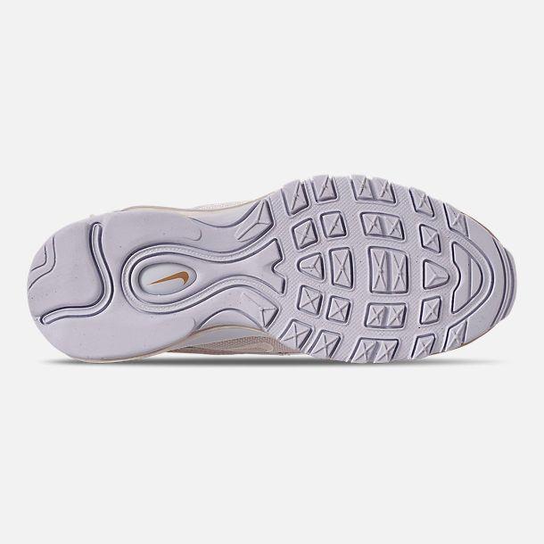 quality design 13f16 fe7c0 Bottom view of Girls  Big Kids  Nike Air Max 97 Casual Shoes in  Phantom Phantom Metallic Red Bronze White