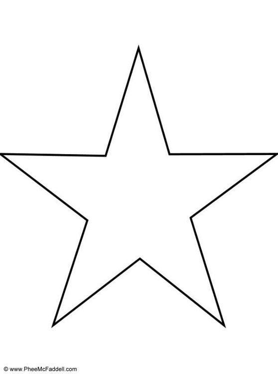 Stern Vorlage Zum Ausdrucken A4 01 Malvorlage Stern Stern