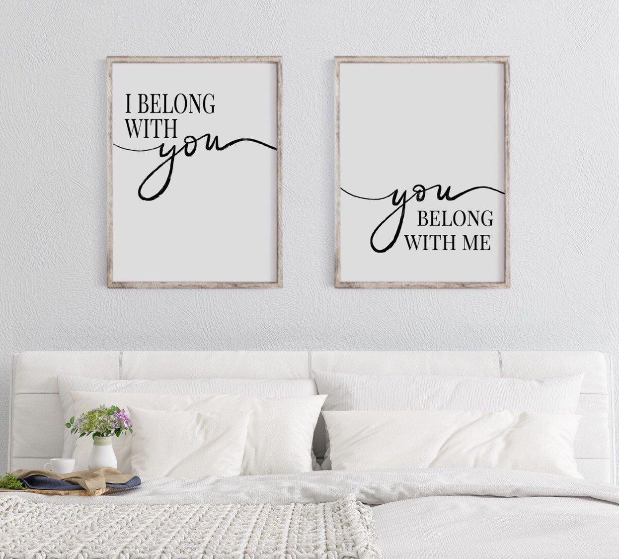I Belong With You You Belong With Me Printable Wall Art