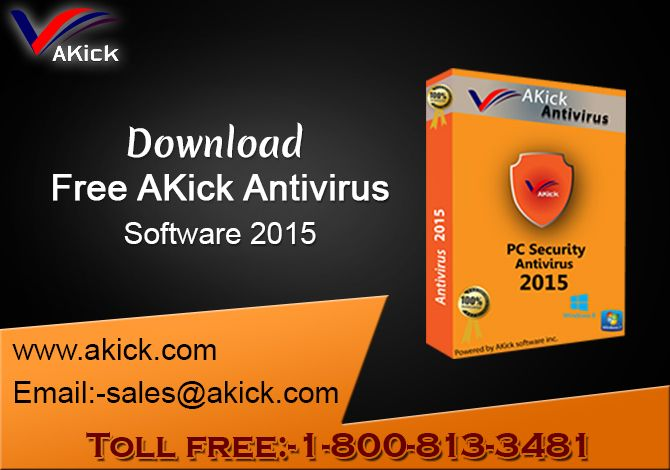 Akick Software providing world lightest top #antivirus #software 2015, this antivirus remove infected #virus, #malware and fully complete system protection.