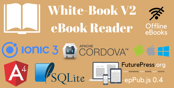 White-Book V2  Ionic 3 eBook Reader Application Template