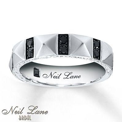 Neil Lane Mens Band Ct Tw Black Diamonds White Gold We Found His Wedding Ll Both Have