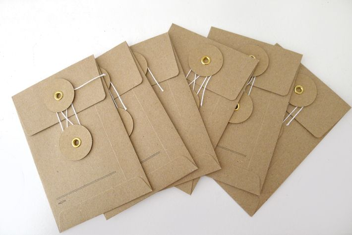 Small Kraft Envelope With String Brown