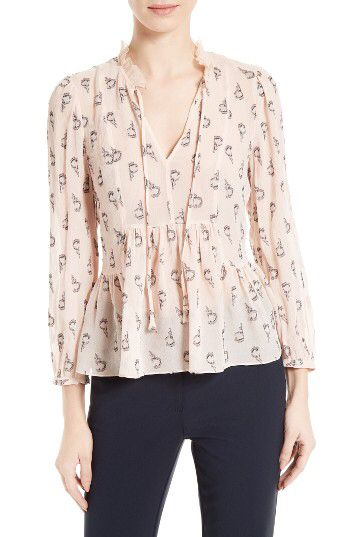 Rebecca Taylor Rebecca Taylor Tulip Fil Coupé Blouse available at #Nordstrom