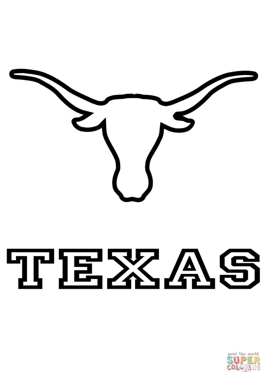 Longhorns Texas Team coloring page from NFL category