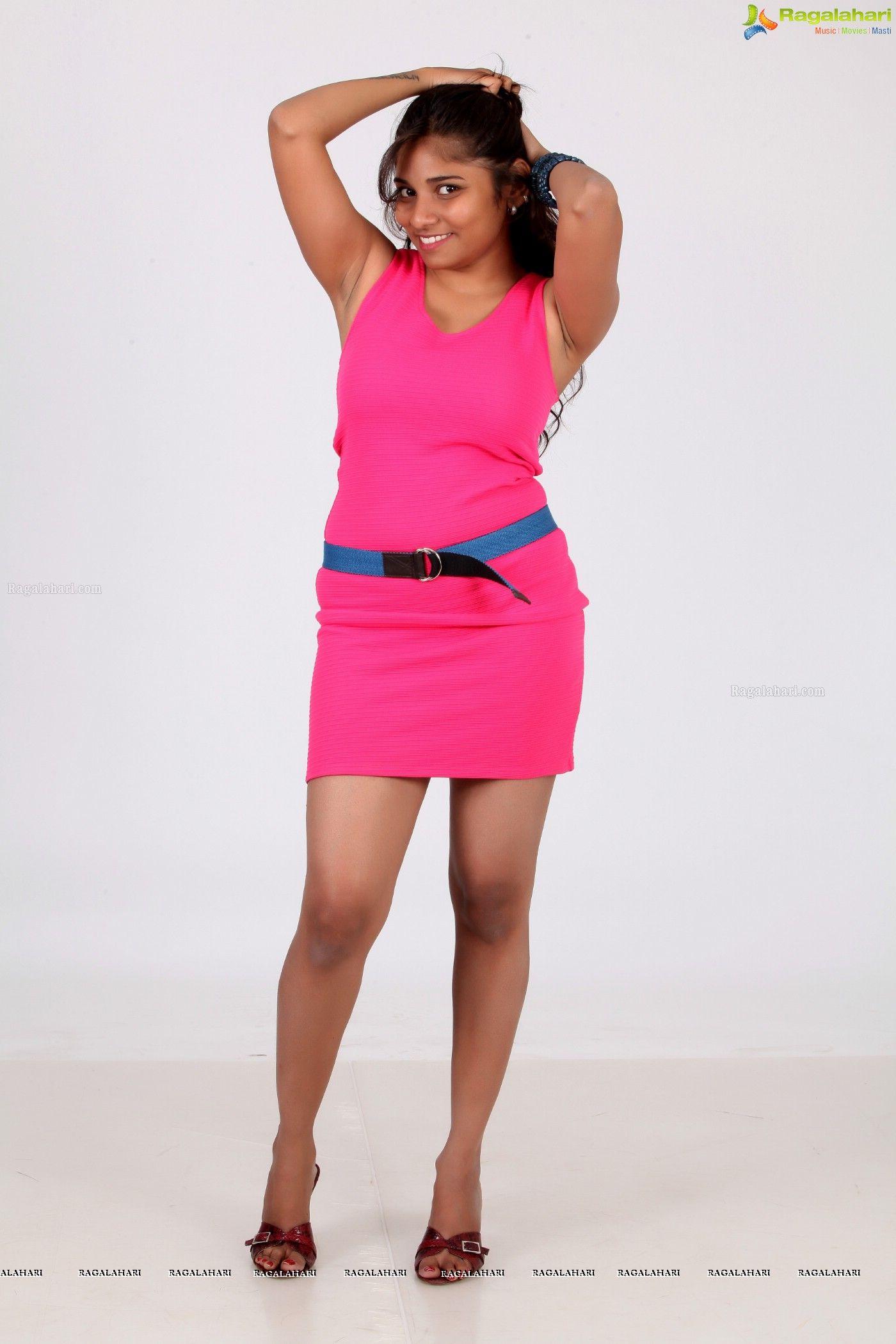 Madhu Shalini Hot Sex Stunning telugu model madhuri in pink dress - ragalahari exclusive photo