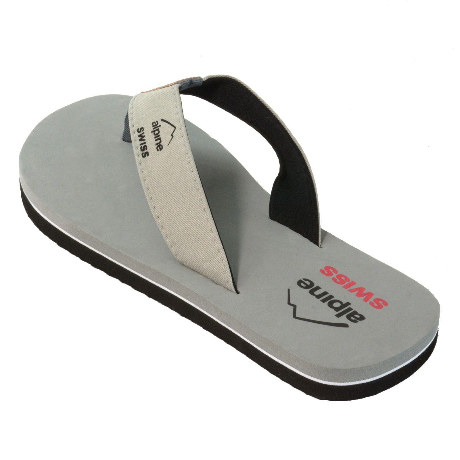 73019b719 Alpine Swiss Men s Flip Flops Beach Sandals Lightweight EVA Sole Comfort  Thongs