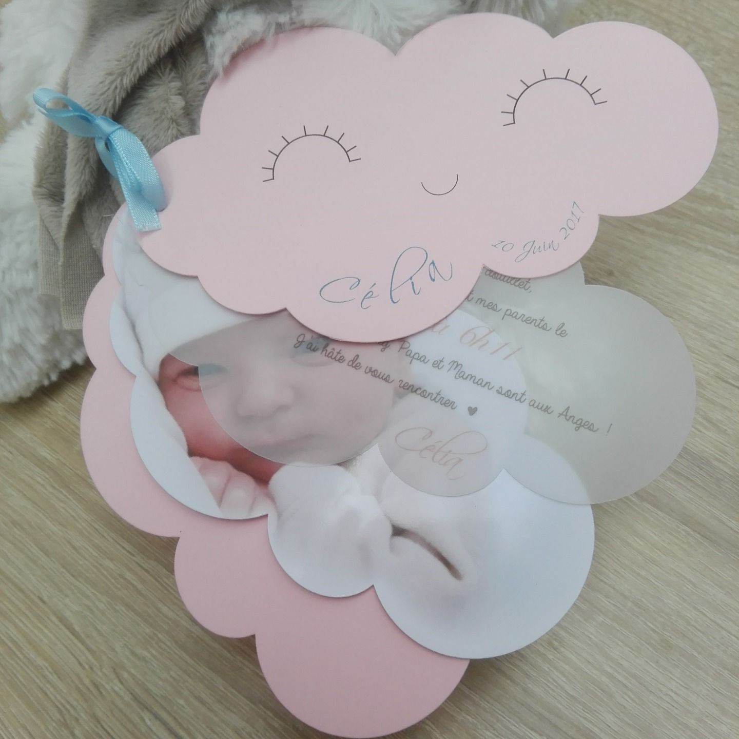 birth announcement or customizable baptism cloud large model envelope cosas para hacer
