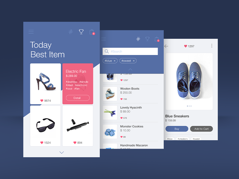 Hash Tag Mall Mobile App Design Mobile Design App Design