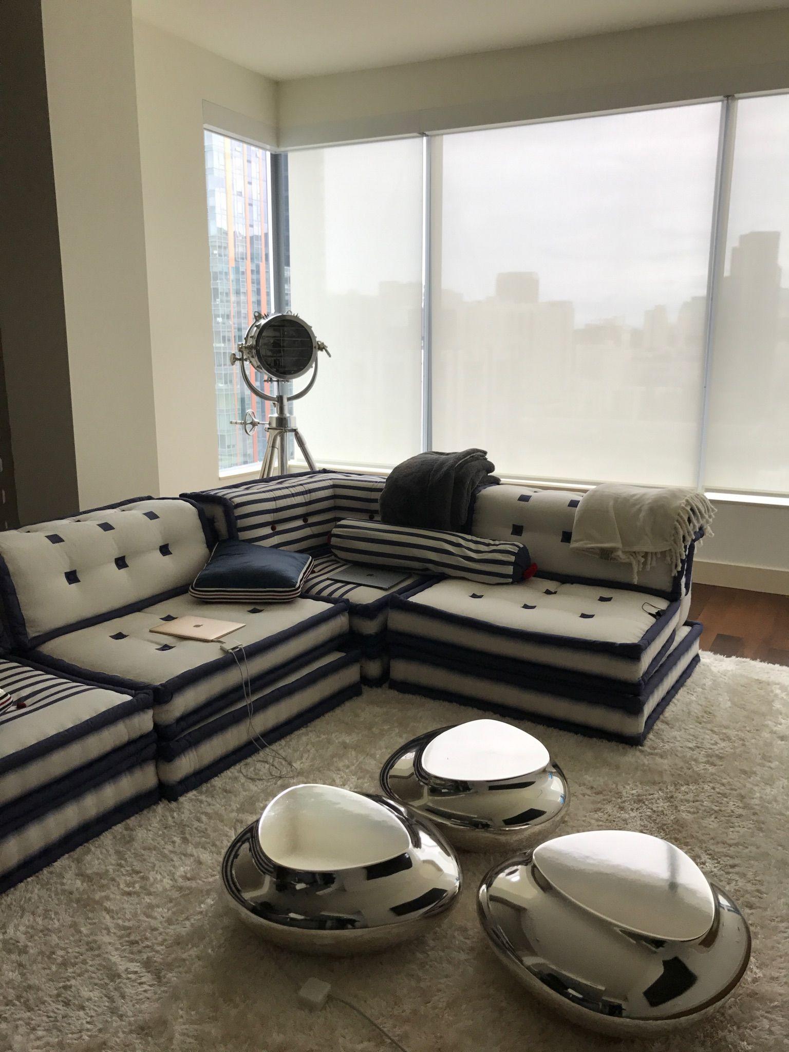 Roche Bobois Mah Jong Couch Matelot Jean Paul Gaultier Design Hans