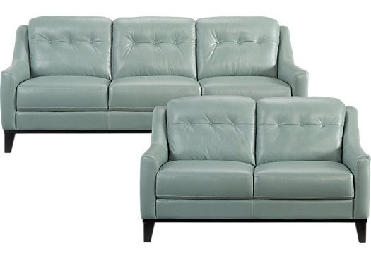 Cindy Crawford Lincoln Heights Seafoam 2pc Classic Living