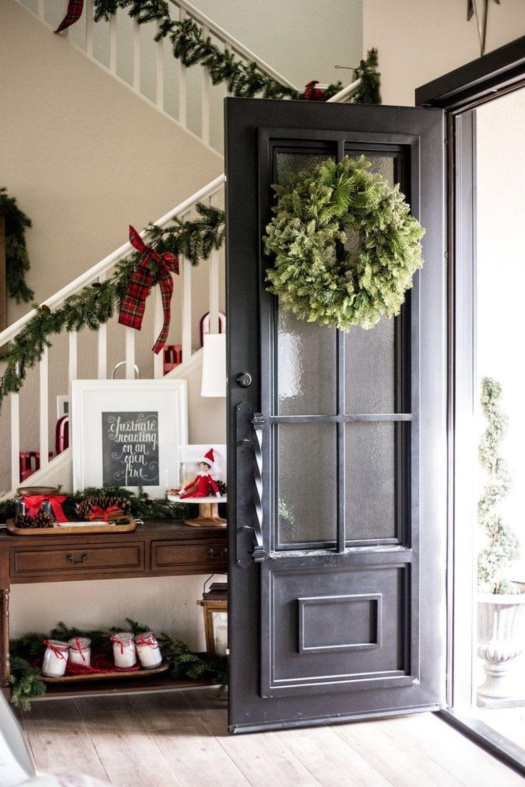 Beautiful farmhouse front door entrance decor and design