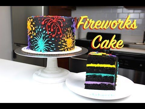 Fireworks Cake 4th Of July