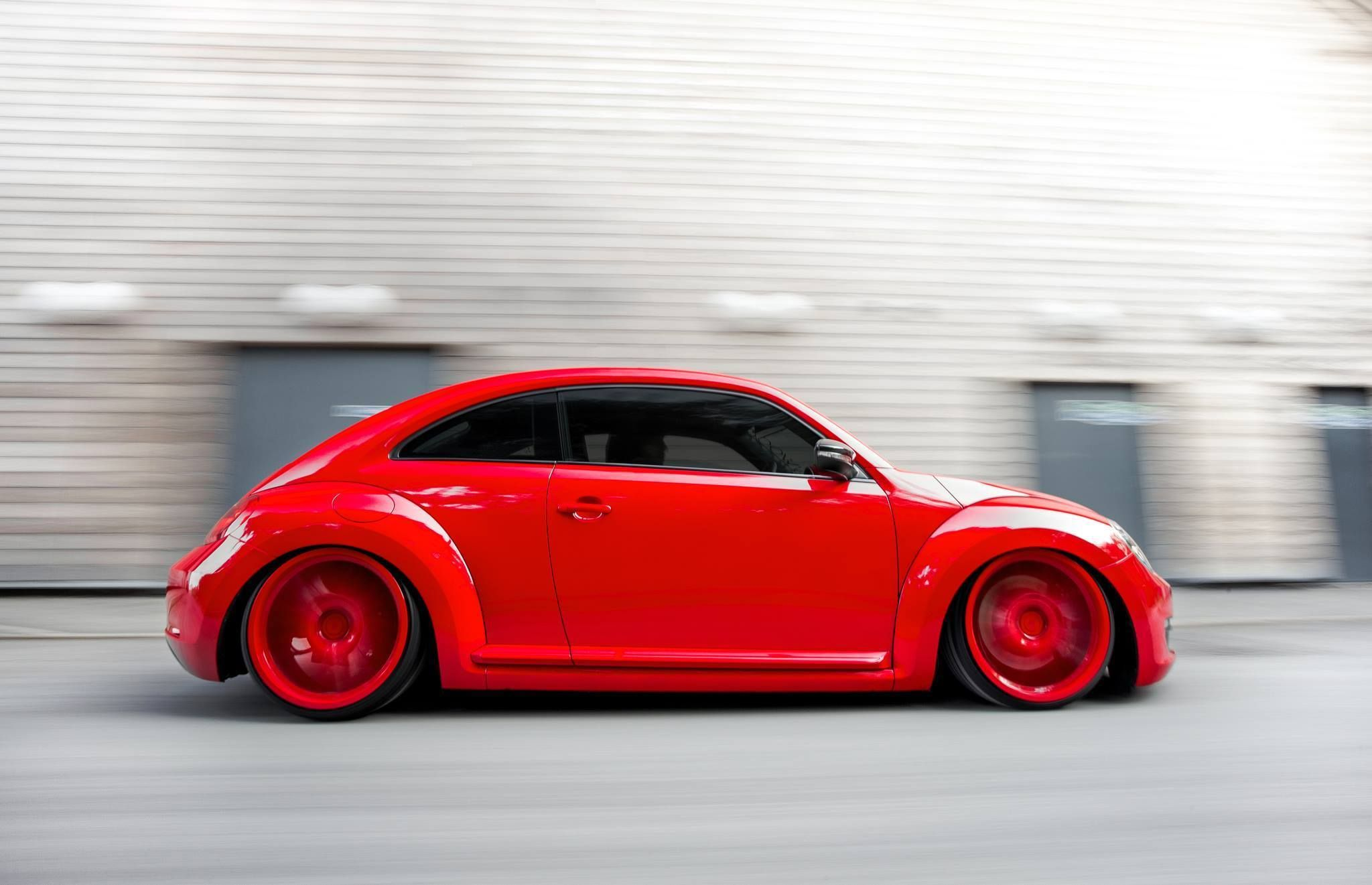 Design of beetle car - Vw Red New Beetle With Red Wheels