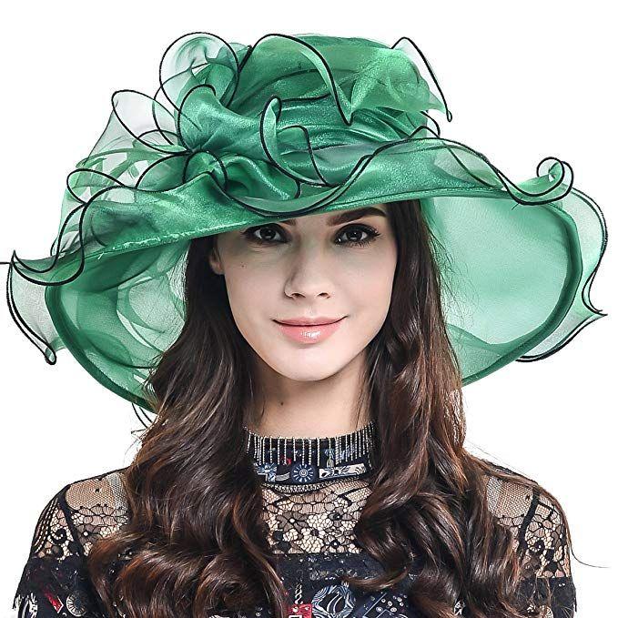 ea8d391f Womens Kentucky Derby Church Dress Wedding Floral Tea Party Hat S056  (Green) Review