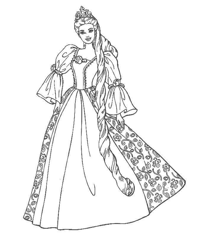 Barbie Princess Colouring Pages To Print Barbie Coloring Pages Barbie Coloring Princess Coloring Pages