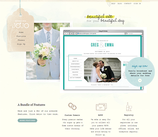 Wedding website with password - best idea ever as you can centralize everything!