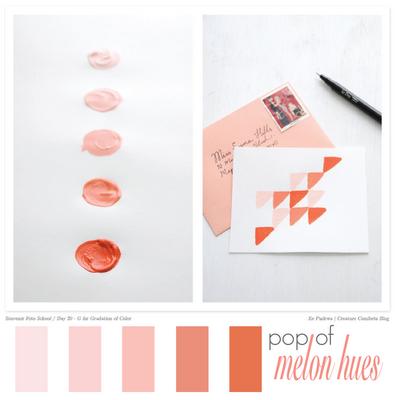 color inspiration: pop of melon hues