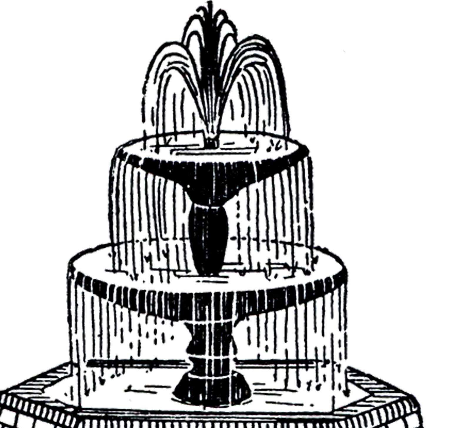 Free Vintage Fountain Clip Art Clip Art Vintage Clip Art Clip Art Pictures
