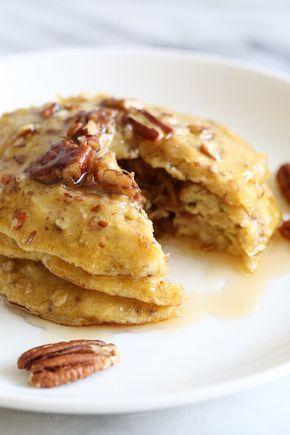4-Ingredient Flourless Banana-Nut Pancakes | Skinnytaste thumbnail
