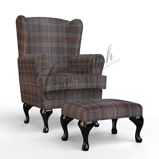 Cavendish Furniture Tartan Extra Wide Luxury Orthopedic High Seat